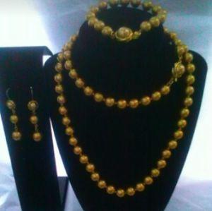 Jewelry - Gold Color Necklace, Bracelet, & Earring Set